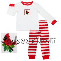 Cardinal smocked boy set for Fall-winter