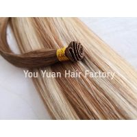 Luxury Cuticle Hair Weft Hand Tied Weft Extensions Double Drawn Hair Weave Wholesale