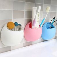 Bathroom Accessory Toothbrush Wall Mount Holder Sucker Suction Cups Organizer