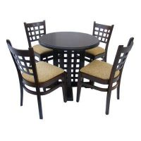 café bar furniture set: Table and 4 chairs, MD 170 / 702 / 702