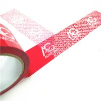 tamper proof security packing tape for sealing carton