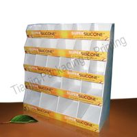 Cosmetics paper display stand
