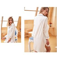 Silk Like Satin Nightgown Nightshirts Dress Pajamas For Women Wholesale High Quality thumbnail image
