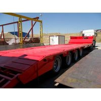 4 axles 16 tires jumbo lowbed trailer