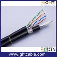 Coaxial cable RG6/RG59/RG58/ with network cable CAT5/CAT6