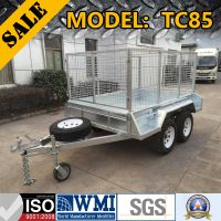 2017 GALVANISED CAGE TRAILER: TC85