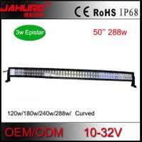 "50"" curved aluminum housing led light bar 36w/72w/120w/180w/240w/288w high lumens led offroad light"
