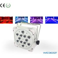 110w Wireless DMX 12 lens 4W RGBW 4in1 LED Flat Par