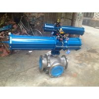High Quality Carbon Steel Pneumatic Ball Valve Wcb Ball Valve with Pneumatic thumbnail image