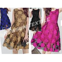 high quality Organza Jacquard fabric for ladies skirt fashion dress and Garment