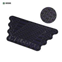 Stylish vinyl door floor mat