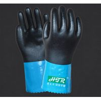 PVC soft oil-proof and chemical defense glove[10-107]
