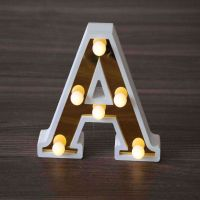 Led wooden letters A single letter can spell a word alphabetic party decoration