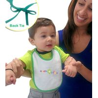 Velour Easy Tie Mini Baby Bib
