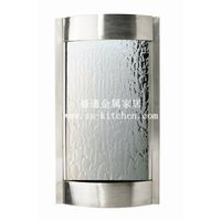high quality wall mounted waterfall in stainless steel and mirror