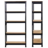 Boltless / Rivet Shelving Racks Steel Storage 7003001500mm