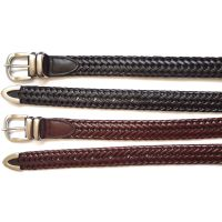 30mm Width German Bond Braided Leather Belt