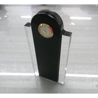 Cheap acrylic customized trophy with clock