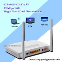 High performance 4GE GPON CATV ONT with 300M Wifi And RF function