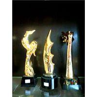 Resin trophy, crystal trophy, crystal medal