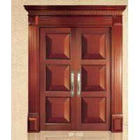 Double swing wooden door (SF103)