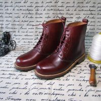 Men's Ankle Platform Boots Shoes Handmade Goodyear Craft