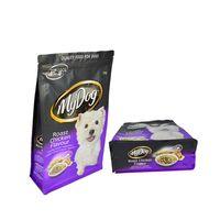 Custom Design Printed Resealable Zipper Top Bottom Gusset Plastic Pet Food Packaging Bag