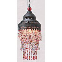 Colourful beads chandeliers/antique chandeliers/Bianca Multi Colour acrylic Drop Lamp Shade/Moroccan