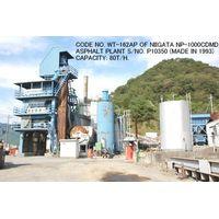 "CODE NO. WT-162AP OF USED ""NIIGATA"" MODEL NP-1000CDMD ASPHALT PLANT S/NO. P10350 thumbnail image"