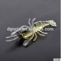 soft fishing shrimp lure 48