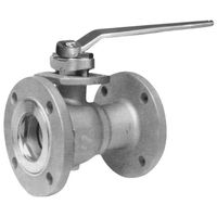 2PC Carbon Steel Wcb Fluorine Lining Flanged Ball Valve
