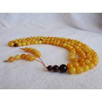 Amber rosary, Buddhist, Chinese honey