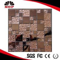 New Arrived Puzzle Metal mixed Glass Mosaic Tile