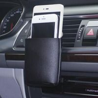 Car airlet phone leather pouch holder thumbnail image