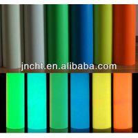 self glow PVC vinyl/photoluminescent film/glow in dark film