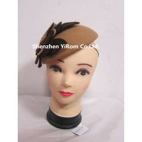 YRFC14193 felt fascinator,dress fascinator,winter fascinator thumbnail image