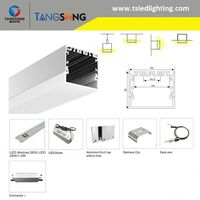 Shenzhen factory manufacture long lasting no flickering SMD recessed led linear luminaire