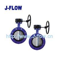 BV100-U butterfly valve -center line u flange-phenolic hard-back seat