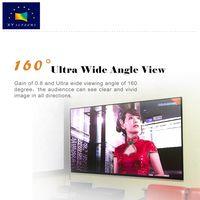 100 inch popular pet crystal ultra short throw home cinema projector screen black frame