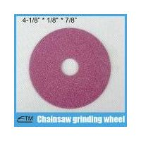 Pink aluminum oxide grinding wheel for chainsaw sharpening thumbnail image