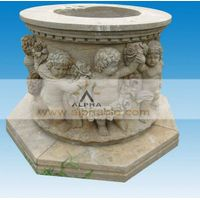 antique effect stone urn plant trees or flower
