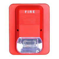 Haisheng 2 wire conventional fire alarm sounder horn light 24v with 95dB thumbnail image