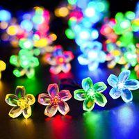 20led 30led 50led Outdoor Solar Powered String Lights Decorative Christmas Fairy Blossom Light for P thumbnail image