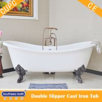Double Slipper Cast Iron Bath Tub