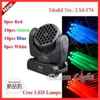 36pcs 5W Cree stage light 200-Watt LED Moving Head Light Beam LM-174