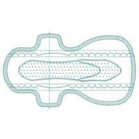 Tridimensional 290mm Cotton Super Thin Herbal Sanitary Napkin