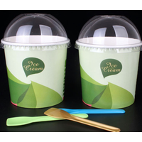Custom Waxed Paper Ice Cream Cups