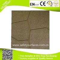 Various shape rubber paving rubber brick