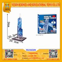 3D architecture puzzle for bank of China tower educational toys for adult thumbnail image