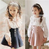 New Summer Baby Girls Falbala Dress European Style Designer Children Dresses Kids Clothes 3-8Y